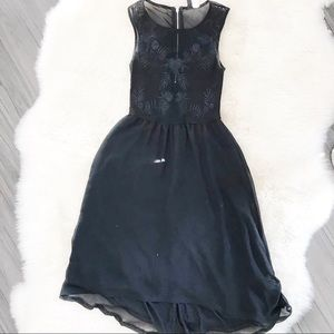 H&M high low black overlay dress